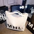 Simple Canvas Bag Handbag Shoulder Bag Korean Casual Portable Big Bag' Letters Women's Handbags Simple Shoulder Bags Handbag