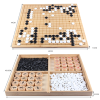 2019 new chess Go game Chinese chess solid wood double Board 19 road go game Gobang upscale set boxed travel game chess 5kg