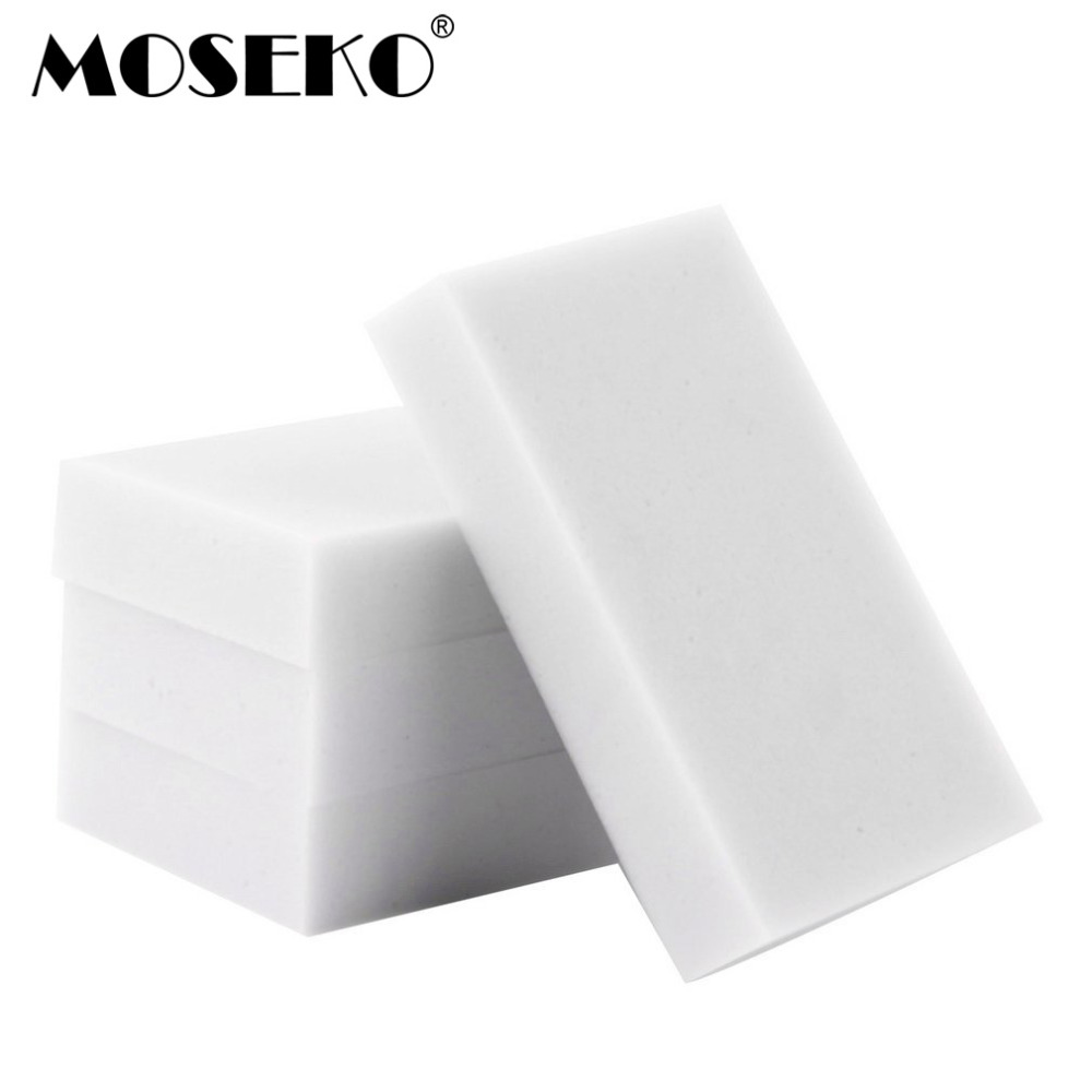 50 pcs/lot Melamine Sponge Magic Sponge Eraser Duster Wipes Cleaner for Kitchen Office Bathroom Nano Cleaning Sponge 10x6x2cm
