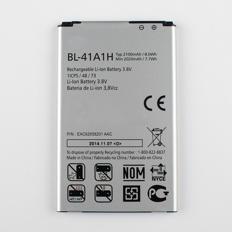 ISUN Replacement <font><b>Battery</b></font> For <font><b>LG</b></font> F60 D390N EAC62638301 For <font><b>LG</b></font> BL-41A1H BL41A1H Mobile Phone <font><b>Batteries</b></font> <font><b>2100mAh</b></font> image