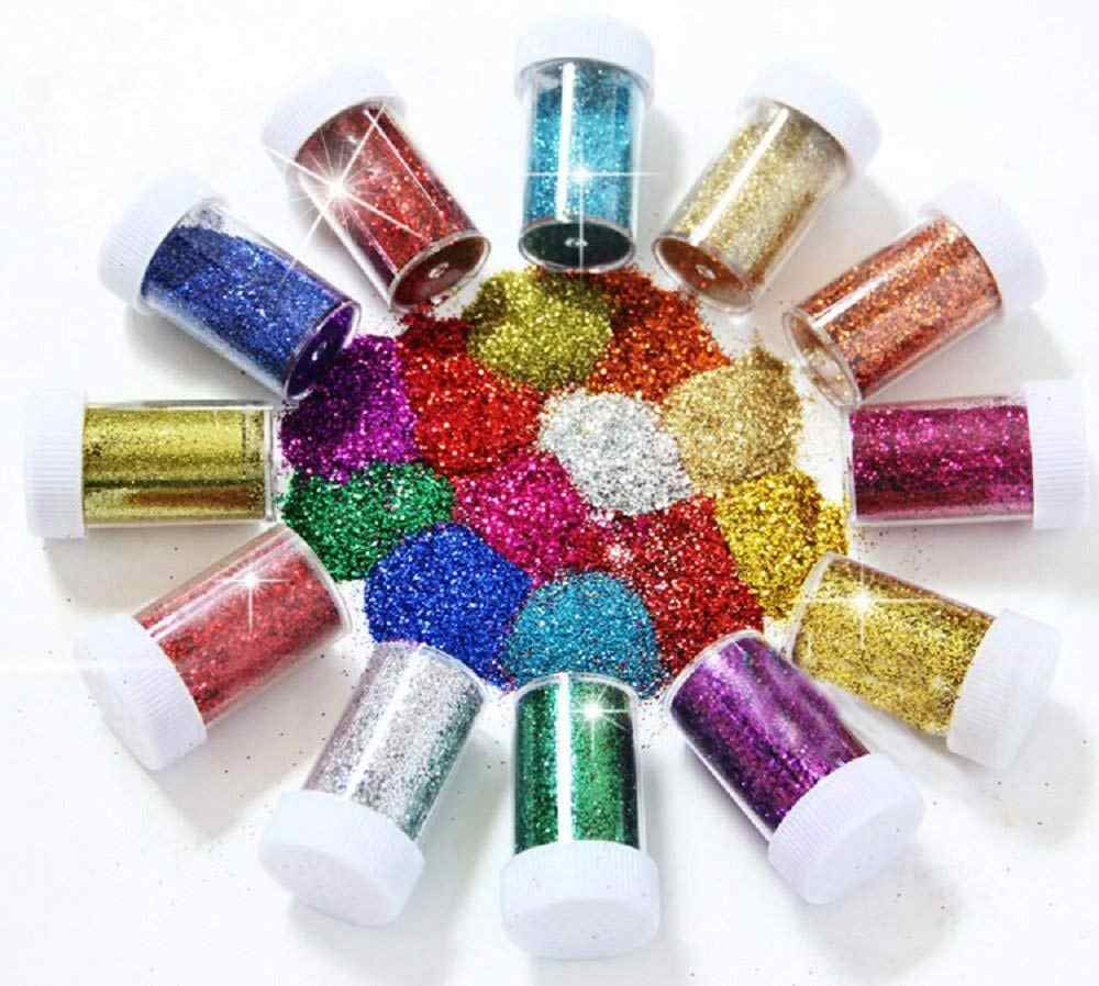 12PCS Fine Glitter for Art Crafts Nail Art Face Art & Slime Glitter Shaker  Tubes for Crafts and Card Decorations Assorted Color| | - AliExpress