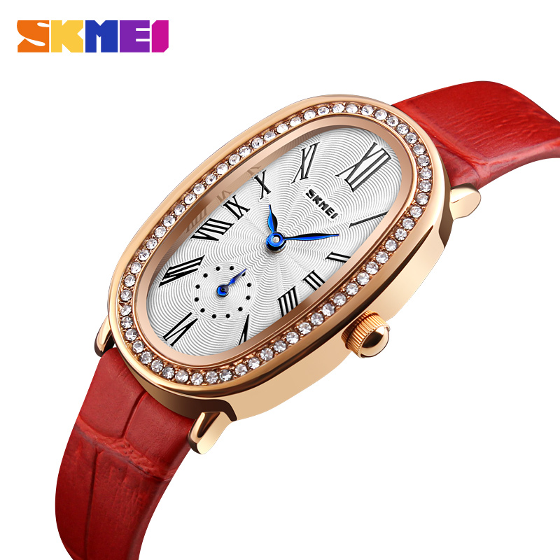 SKMEI Brand Women Quartz Watches Simple Fashion Ladies Watch Waterproof Leather Wristwatches Montre Femme Relogio Feminino 1292 relojes mujer 2016 quartz watch women watches relogio feminino women s leather dress fashion brand skmei waterproof wristwatches