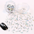 1 Box Laser Nail Sequins 3*7mm Dolphin Glitter Tips Manicure Nail Art Decoration 4 Colors