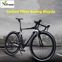 새로운 브랜드 도로 자전거 48/50/52 cm 전체 탄소 섬유 프레임 shiman0 22 속도 브레이크 바람 v 브레이크 사이클링 레이싱 자전거 bicicleta
