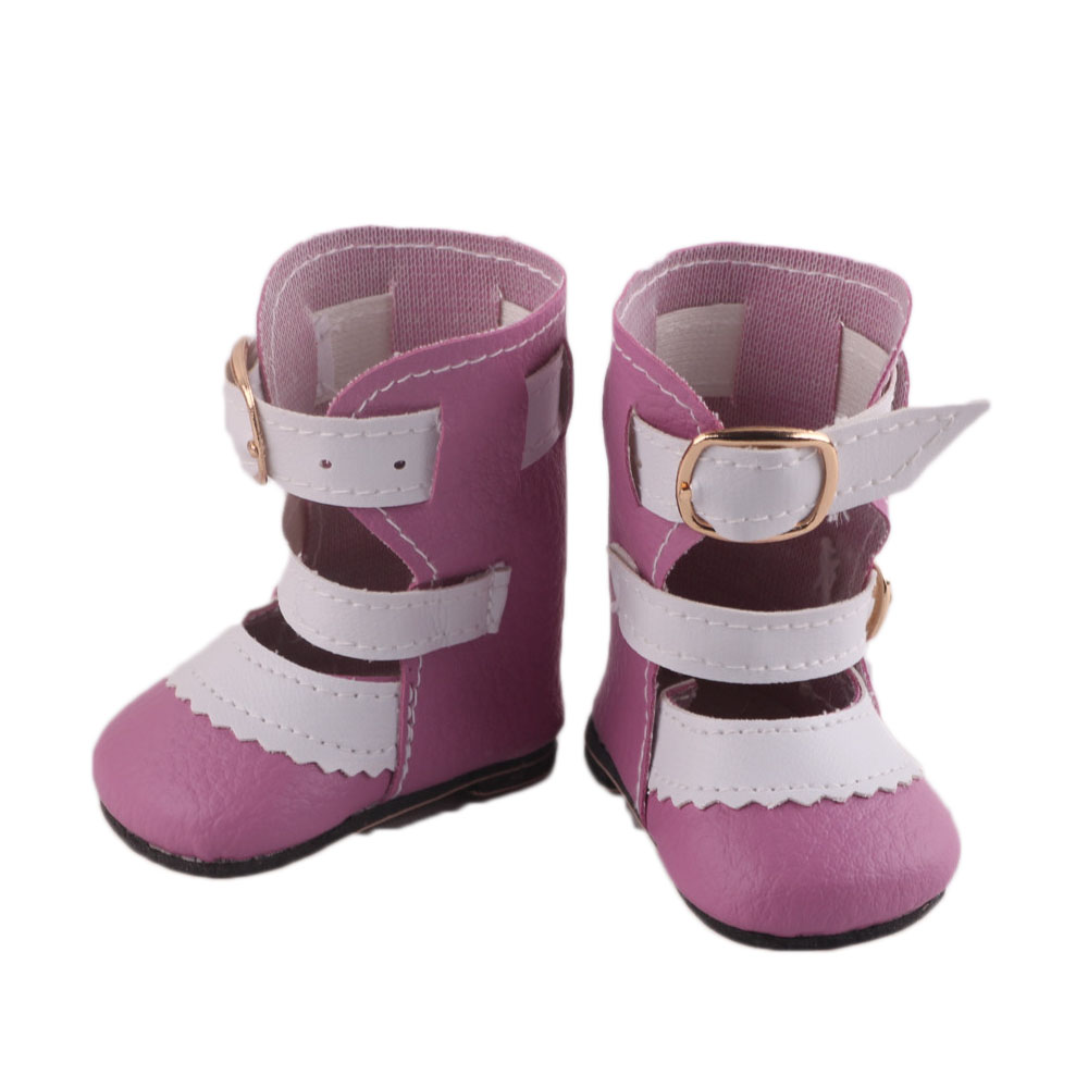 New Fashion pink boots shoes Wear fit 43cm Baby Born zapf, Children best Birthday Gift N445 new fashion pink boots shoes wear fit 43cm baby born zapf children best birthday gift n445