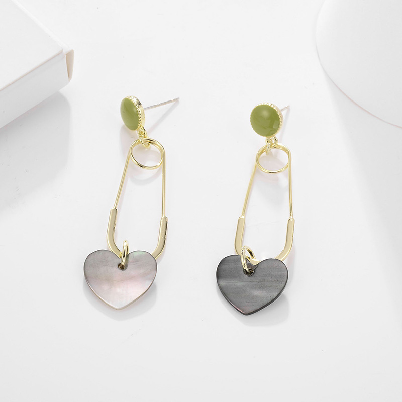 HONGYE Brincos 2019 New Three Colors Heart Drop Earrings for women Big Long Dangling Earrings Femme in Drop Earrings from Jewelry Accessories