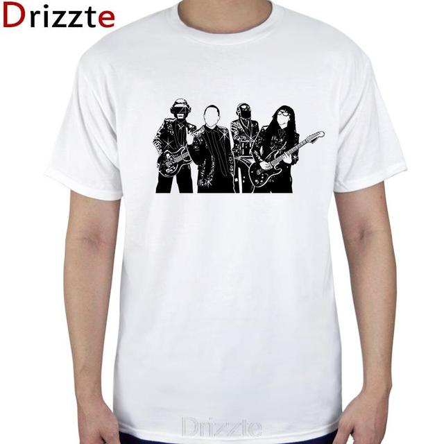 Unisex Mens Womens Boy Daft Punk Cool White t shirts 100% Cotton ...