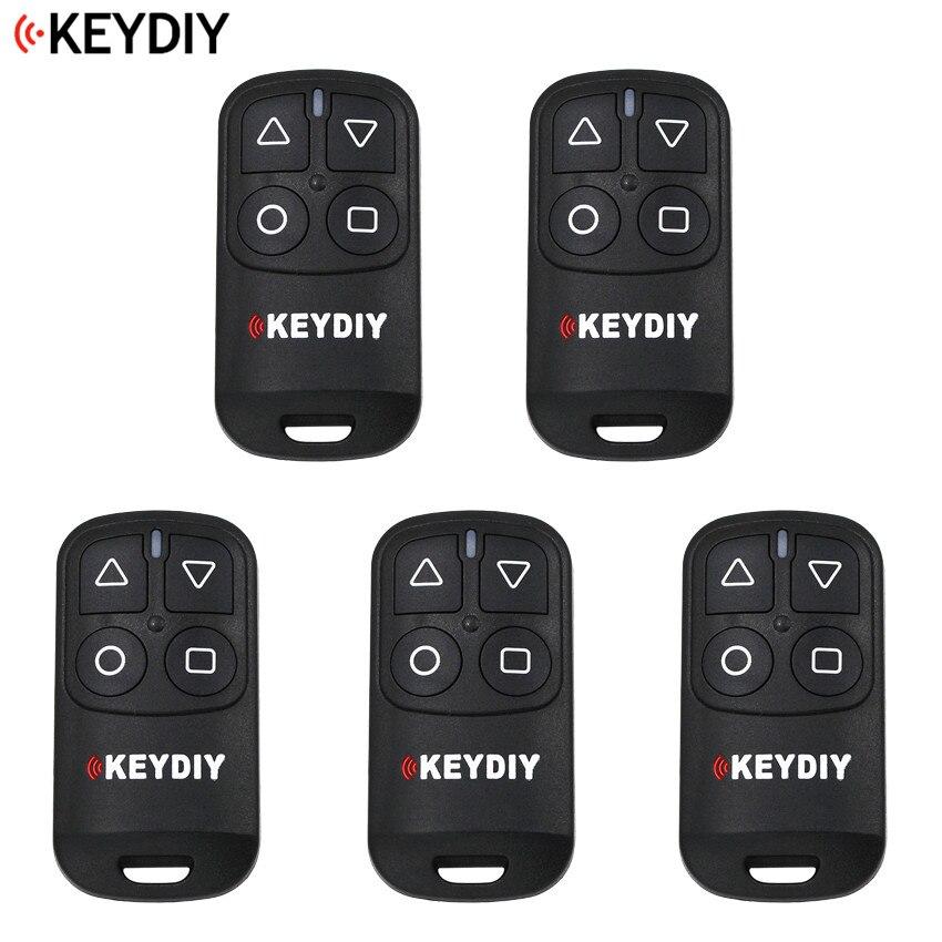 5PCS LOT KEYDIY 4 Buttons General Garage Door Remote Control for KD900 URG200 KD X2 KD
