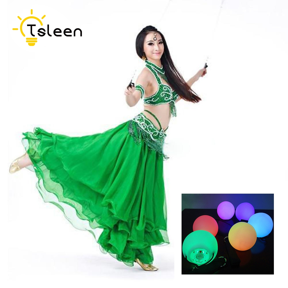 TSLEEN Free Shipping! 1 2 4 PCS LED Poi Balls LED RGB POI Thrown Ball Light Up For Level Hand Prop Stage Performance Accessories 6