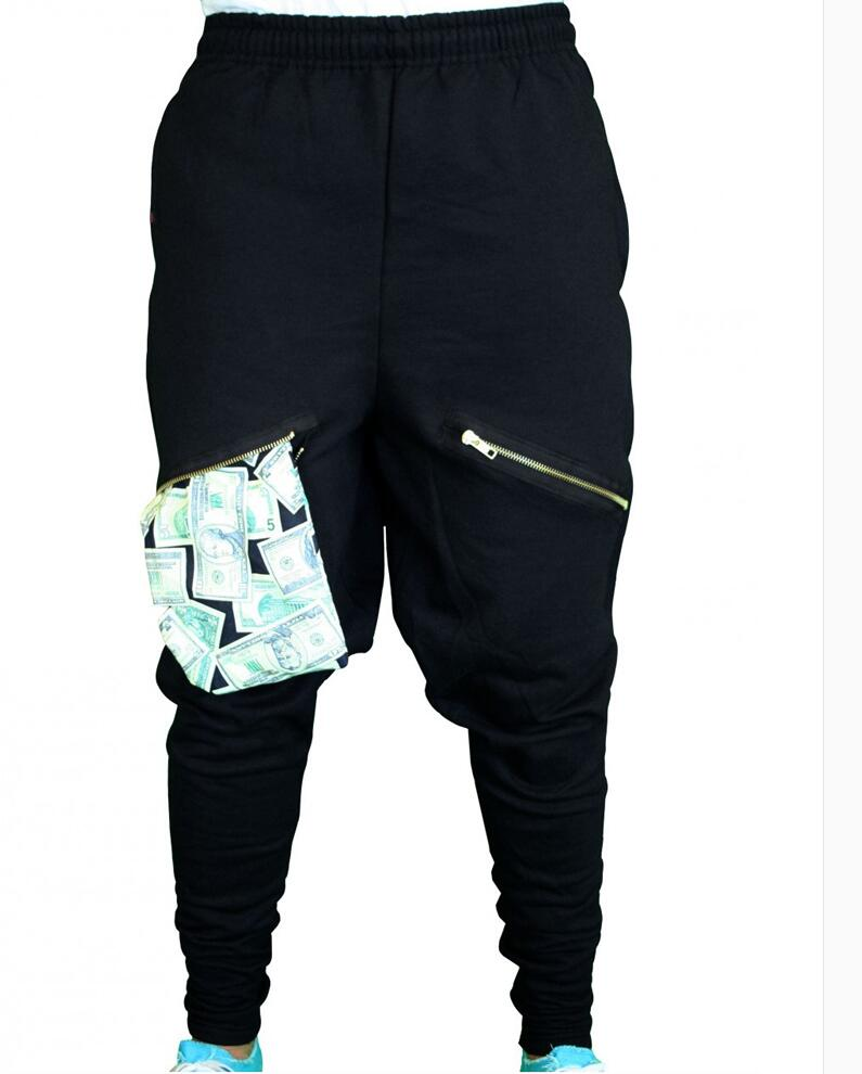 CALDO Più Nuovo Hip Hop Uomini di Stile Justin Bieber Skinny Slim cerniere  Pantaloni Jogger Harem Pants Neri maschio Fase Cantante Pantaloni 27 39 in  CALDO ... 3b2871612cab