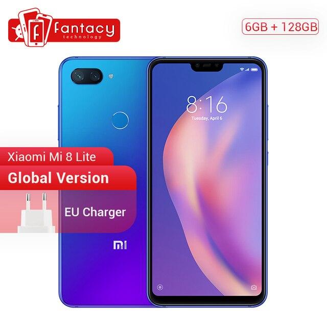 "Global Version Xiaomi Mi 8 Lite 6GB 128GB Snapdragon 660 AIE Octa Core 6.26"" 2280*1080P Full Screen Smartphone MIUI Dual 24MP CE"