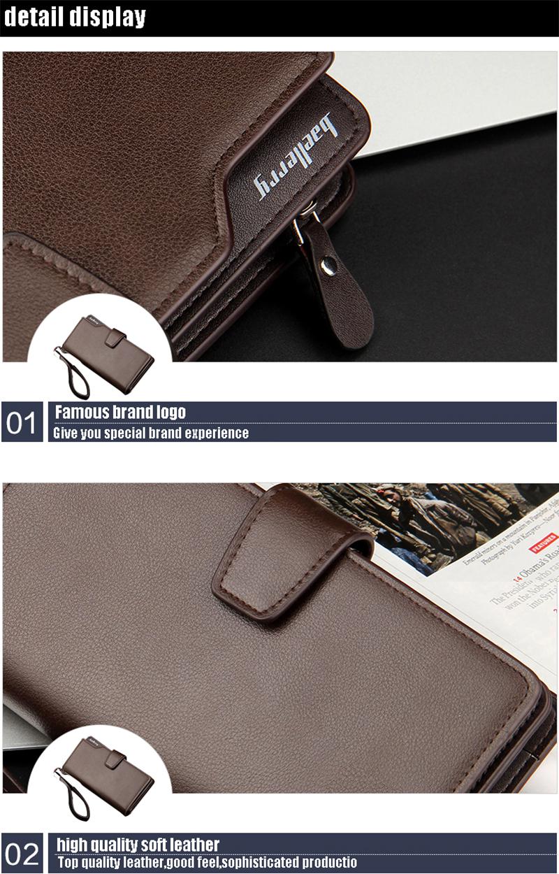 Top Quality leather long wallet men zipper wallets men women money bag pocket mltifunction brown one size 18