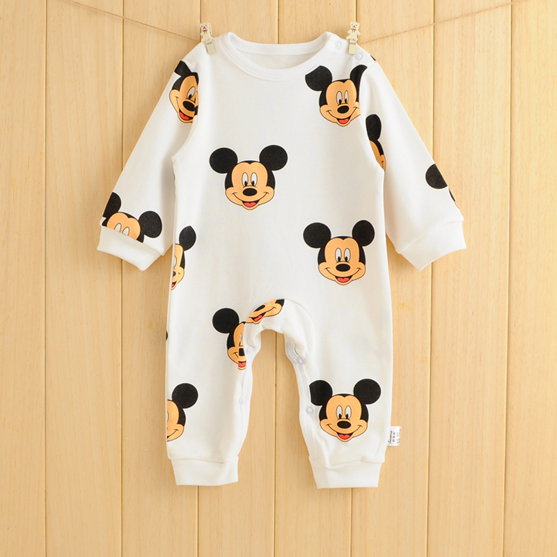 Baby Rompers Spring Autumn Cartoon Baby Clothes Cotton Long Sleeve Kids Jumpsuits Boys Girls Rompers Outfits Baby Girls Clothes baby rompers 2016 spring autumn style overalls star printing cotton newborn baby boys girls clothes long sleeve hooded outfits