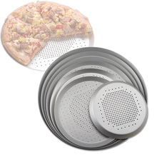 Metal Pancake Pizza Tray Nonstick Pizza Baking Pan Aluminum Pizza Screen Pasta Baking Tray Pizza Dishes Holder Bakeware Baking цена и фото