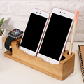 Chic Wooden Charging Dock Station Cellphone Cradle Holder For Apple iPhone 7 7 Plus 6 6S Plus 5 5s SE Smart Watch Charge Holder