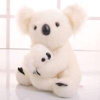 about 30cm lovely cartoon koala plush toy white koala hug baby soft doll Christmas gift w0775