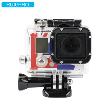 Ruigpro for Go pro Accessories For Gopro Waterproof Housing Case Mount Hero 3  for Gopro Hero3+ 3 4 Camera Mounting gopro vented head strap mount на шлем для hero hero 3 hero3