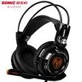 Pro Auscultadores de Jogos Com Microfone G941 Sômica 7.1 Surround Sound Effect Jogo USB Fone De Ouvido Com Função de Vibração Para PC Gamer