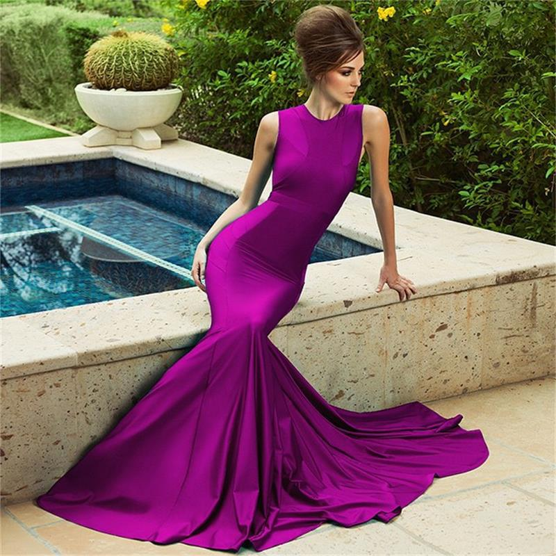 Cheap Long Purple Evening Dresses - Homecoming Prom Dresses