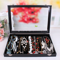Necklace jewelry packaging box High-end jewelry boxes bracelet cases cassette cover glass display necklace box wholesale price
