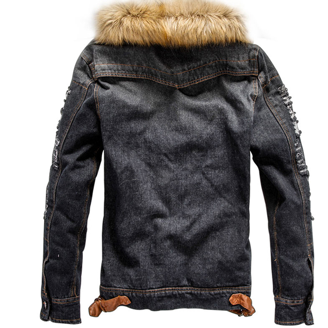 Dropshipping Suppliers Usa 2018 Jeans Jacket Coat Thick Style Coats Asian Size M-4XL
