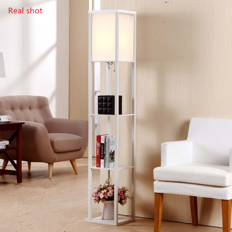 new chinese style floor lamp lamparas de pie vertical wooden floor light for living room standing