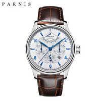 カジュアル 42 ミリメートルパーニス腕時計自動男性パワーリザーブムーンフェイズビジネス男性 Menchanical 腕時計自動日付腕時計