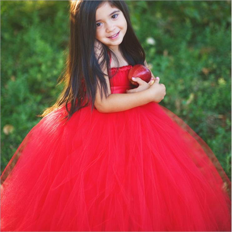 Free shipping Girls red Tutu Wedding dress kids wedding dress children take a photograph clothing size for 1-12T free shipping take a way clothing поло