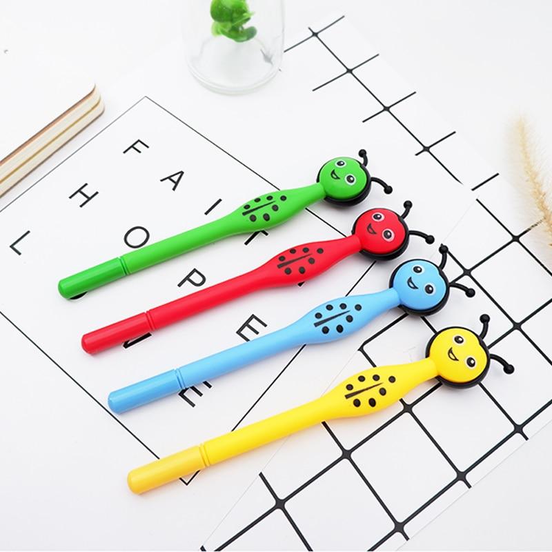 1pcs/lot Creative Ladybug Black Gel Pen Cartoon Office Neutral Pen Children's Gift School Water-based Pen Stationery Supplies