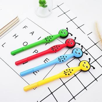 1pcs/lot Creative ladybug black gel pen Cartoon office Neutral childrens gift School Water-based stationery supplies