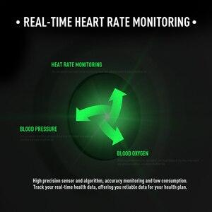 Image 4 - CYUC KW19 Pro wommen relógio inteligente tela de toque completa pressão de oxigênio no sangue esporte smartwatch homens rastreador aptidão para android IOS