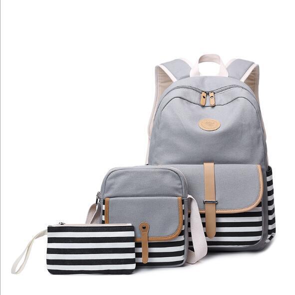 Canvas 3 sets voor meisjes mooie rugzak rugzak schoudertas kiple designer originele pakket ontwerp kiple mochila fe