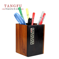 China Tang Fu Gift Square Rosewood Rosewood Pen To Pen Room Office Decoration