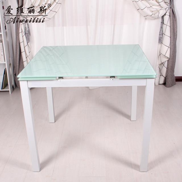 Aiweilisi simple cuadrado mesa cristal de comedor mesa de comedor ...
