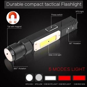Image 2 - 8000LM Đèn Pin Led Handfree Dual Nhiên Liệu 90 Độ Xoắn Xoay Kẹp Chống Nước Nam Châm Mini Chiếu Sáng Đèn Pin Led Ngoài Trời