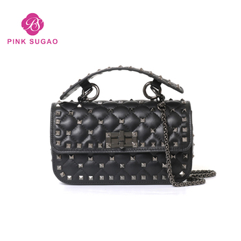 dd755cccfd35 Pink sugao designer women shoulder handbag luxury genuine leather shoulder  handbags fashion chain bags for lady