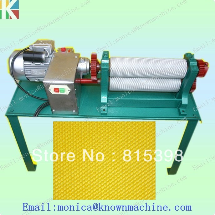 86*195mm electric bees wax foundation sheet machine 86 250mm competitive price bees wax foundation machine