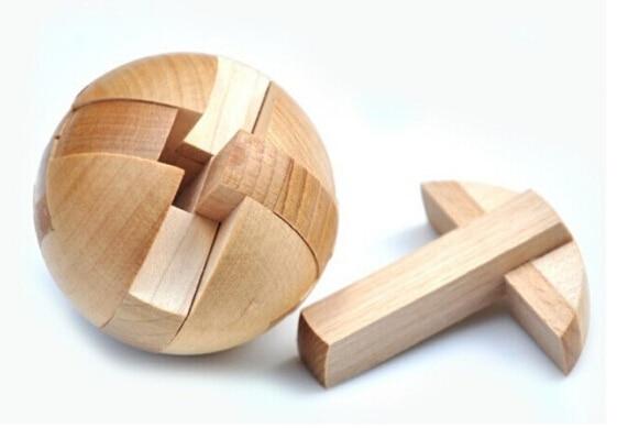4PCS / Set Classic IQ Wooden Puzzle Brain Teaser Burr Interlocking - Puslespill - Bilde 2