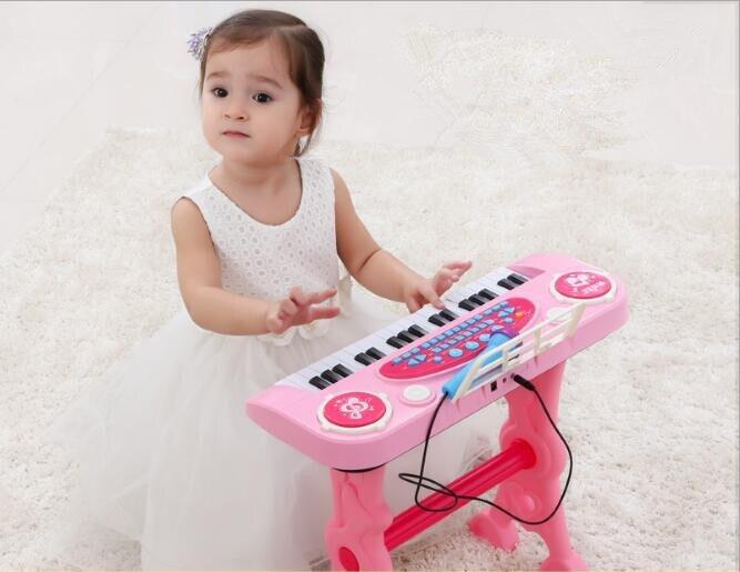 37-key électronique clavier joueur tambours 2 en 1 jouet Piano intérieur enfants jouets pour enfants jouet Instrument de musique apprentissage éducation - 2