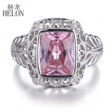 HELON Solid 14k White Gold Details about Natural Diamonds10x