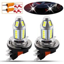 1pair H15 LED Car Fog Lamp 150W High Power with Decoder 3030 Chips 6500K White Waterproof Auto Front Headlamp Driving Lights