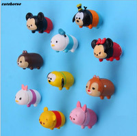 CUTEHORSE 10pcs/set Stereo mickey refrigerator to the winnie the pooh creative 3d refrigerator magnet.
