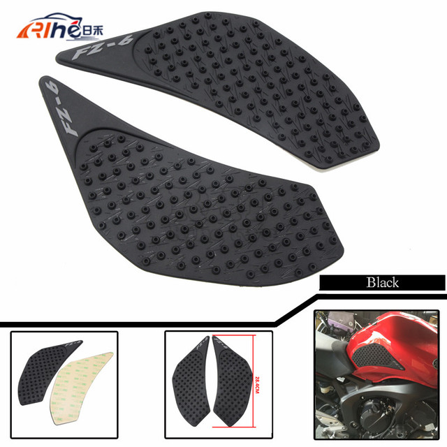 New Motorcycle Accessories Motorcycle Carbon Fiber Tank Decal Pad Sticker Protector For Yamaha FZ6 FZ-6 2006 2007 2008 2009 2010