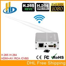 URay HEVC H.265 HDMI + AV CVBS Codificador de Streaming de Vídeo H264 Sem Fio IPTV Codificador HD + SD Codificador de Vídeo Ao Vivo WiFi Com PAL NTSC