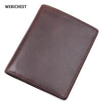 WERICHEST Genuine Leather Wallet Men Bifold Short Male Card Holder Top Quality Handmade Purse Multi Functional Men Wallets