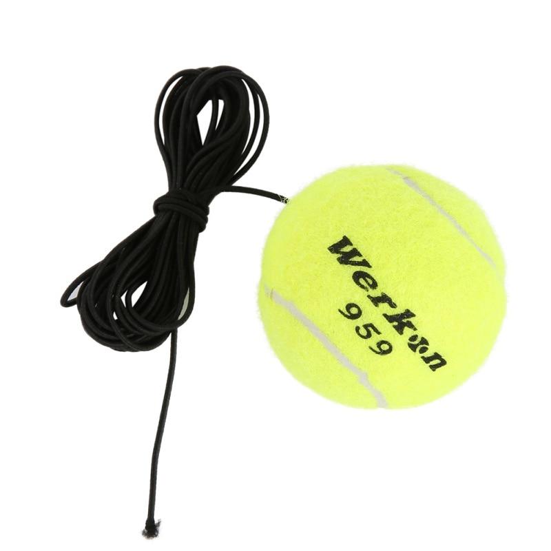 2017 New Brand Elastic Rubber Band Tennis Balls yellow green Tennis Training Belt Line Training Ball to Improve Your Skills