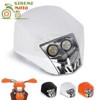 Motorcycle Headlights General Double Dual Head Lamp For KTM HONDA SUZUKI KAWASAKI CRF YZ KX Dirt Bikes Off Road