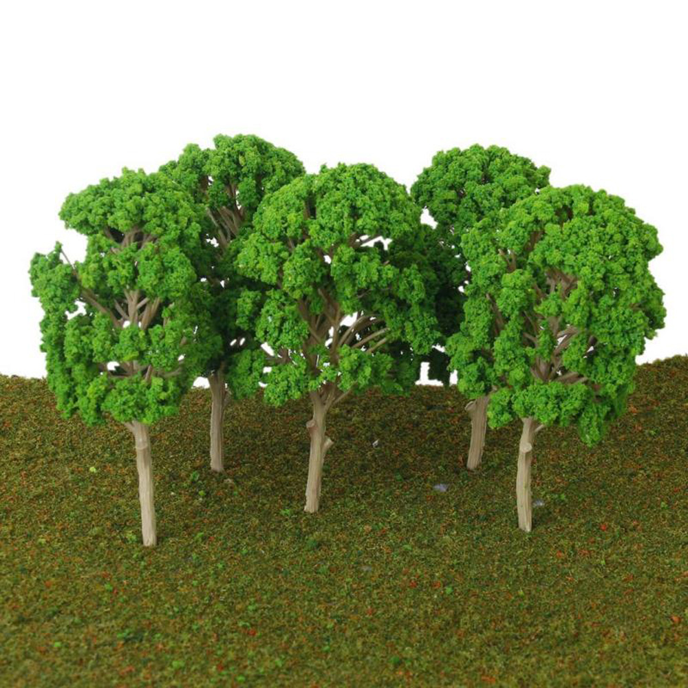 Green Model Trees Train Park Landscape 14.5cm 1:50-75 Plastic Railway Parts Accessories Supply