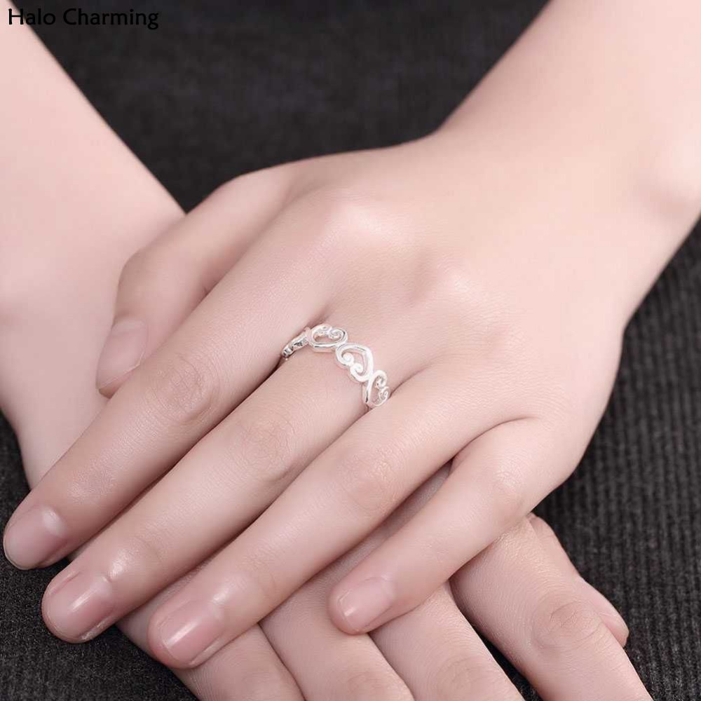 High Quality Zircon Heart Women Fashion Jewelry Ring Romantic Gift ...