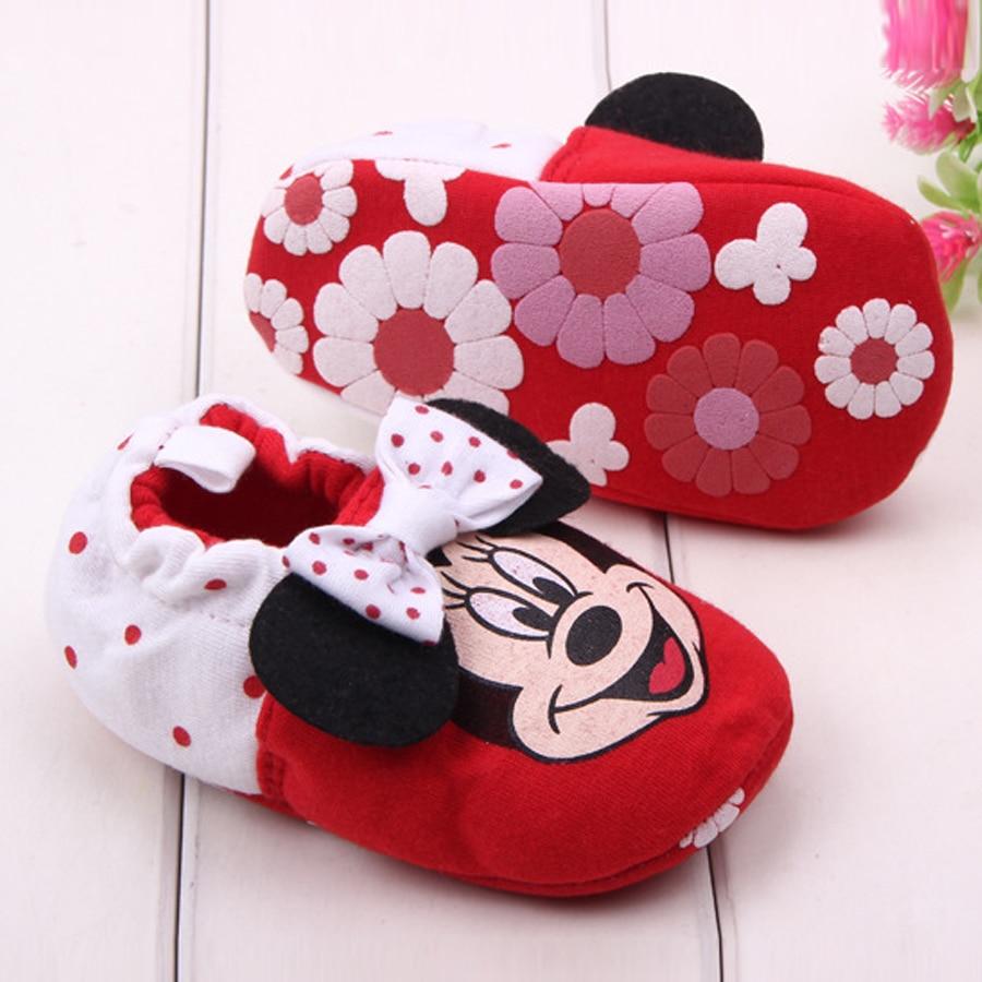 Merk Baby Meisje Schoenen Cartoon Minnie Loafers Pasgeboren Crib - Baby schoentjes - Foto 6